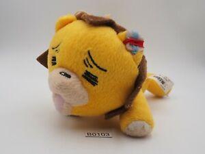 """Bleach Kon Lion B0103 Banpresto Plush 7"""" 2005 Laying Stuffed Toy Doll Japan"""