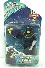 NOC Toy Story 2 Water Warrior Zurg Aqua Action Figure 2000 *damaged card*