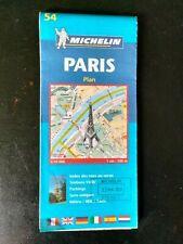 CARTE PLAN VILLE MICHELIN N°54 PARIS METRO / VELIB / INDEX  - Ed. 2008 - NEUVE