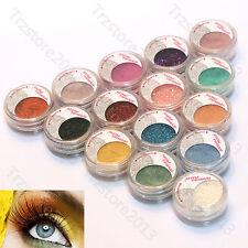Party Cosmetic 15Pcs Mineral Glitter Pearl Loose Eye shadow Eye Powder Kit