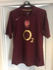 Men's Arsenal Home Shirt 2005/06 Size Large Used Nike HIGHBURY 1913-2006 Henry L