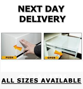 PUSH TO OPEN DRAWER RUNNERS FULL EXTENSION PAIR  350,400,450,500 mm PKP