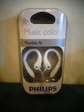 NEW GENUINE PHILIPS SHS3211S MUSIC COLORS FLEXIBLE FIT EARHOOK HEADPHONES