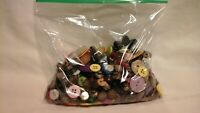 BAG O BUTTONS MIX! 100+ MIXED LOT of OLD VINTAGE & NEW Buttons MIXED TYPES SIZES