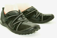 Clarks Privo Womens Black Quilted Leather Shoes Size 6.5M Slip On