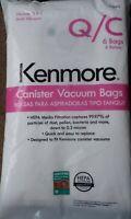 6 Kenmore Sears Type Q/C HEPA Vacuum Bags Style 53292