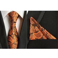 Herren Klassisch Krawatte Seide Paisley Mit Taschentuch Einstecktuch Set HZ190