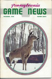 Pennsylvania Game News December 1966 cover by Ralph Cady white tail buck