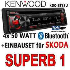 Skoda Superb 1 - KENWOOD Bluetooth AUTORADIO Android USB CD MP3 Radio -EINBAUSET