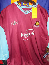 WEST HAM UNITED HOME SHIRTS 2003/5  large boys30/32at £10 bnwL REEBOK BRAND NEW