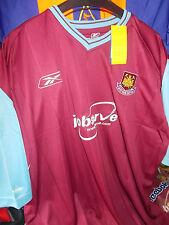 West Ham United home shirt 2003/5 Grandi Ragazzi 30/32at £ 10 NUOVO con etichetta Reebok Nuovo di Zecca