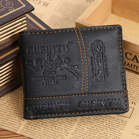 Men PU Leather Bifold Wallet Credit/ID Card Receipt Holder Coin Money Purse Gift