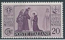 1931 REGNO S. ANTONIO 20 CENT MNH ** - W131-5
