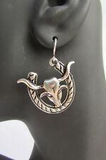 New Women Earrings Set Silver Metal Western Fashion Big Bull HorseShoe Hook Loop