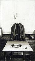 """Verlassener Ort"", 1977. Grosse Radierung Rolf ESCHER (*1936 D), handsigniert"