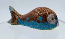 Vnt Ornamental Koi Carp Goldfish Cloisonne Figurine 3.5� In.