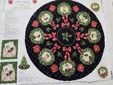 "CRANSTON VILLAGE ELVIS PRESLEY 33"" Christmas Tree Skirt Ornaments Panel Quilted"