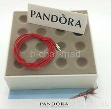 PANDORA | GENUINE Red String Cord Silver Ends Bracelet / Necklace: 390961CRD-100