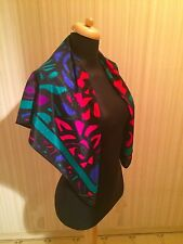 Gorgeous Vintage Peters & Ashley Scarf Geometric Abstract Floral Pattern Nwot