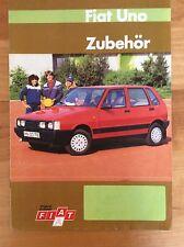 1984 Fiat Uno, Deutscher Zubehör-Prospekt Brochure von 1984