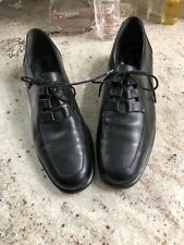 RockPort Womens Ladies Black Leather Low Heels Shoes Lace Loafer 10M