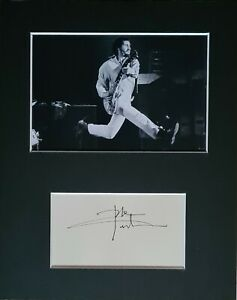 Pete Townshend 'The Who', hand signed mounted autograph.