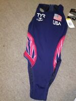 Water Polo Competition Swim Suit, New, by TYR, Female, USA National Team Flag