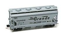 Micro Trains MTL, Denver & Rio Grande Western DRGW 2 Bay Hopper - New Old Stock