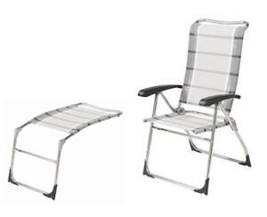 Dukdalf Aspen Chair & Footrest Package - Grey Stripe- Latest Model
