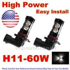 2pcs Fog Lights for 2004-2006 Mazda 3 Hatchback 60W High Power LEDs White US