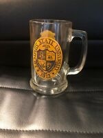 Arby's Collegiate Collection Memphis State Tigers Glass Beer Stein Tankard Mug