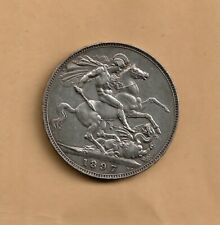 More details for 1897 lxi victoria 0.925 silver old head crown coin