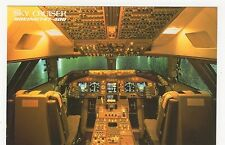 Japan Airlines Skycruiser Boeing 747-400 Cockpit Official Postcard, A855