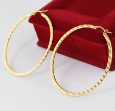 Hoop Earring Women Gifts Gold Color on sale 5pair Stainless Steel Fashion Round