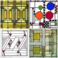 Frank Lloyd Wright Designs for Glass Coasters Set of 4 - WUAS305