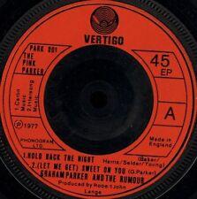 "THE PINK PARKER hold back the night 4 track ep PARK 001 uk vertigo 7"" WS VG/"