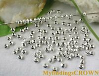 500pcs Silver plated tiny bicone spacer beads FC284