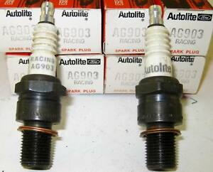 NOS Ford Spark Plugs 427 SOHC Galaxie Mustang Comet Autolite Racing Set of 8