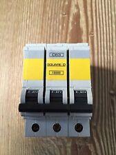 Square D QOE 63 Amp Type C MCB Circuit Breaker 3 Phase Pole