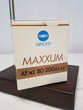 Minolta Maxxum AF Zoom XI 800-200 F4.5 (22) 5.6 Lens Minolta Mount