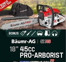 """45cc 18"""" Petrol Chainsaw Pro-Series with Easy Start Petrol 2 Stroke Commercial"""