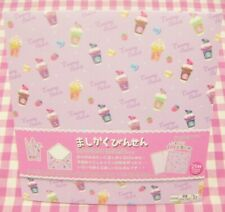 Sweets Drink Square Light Purple Letter Memo Pad / Japan Stationery
