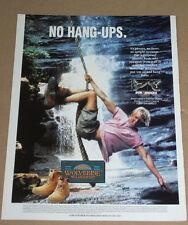 WOLVERINE WILDERNESS BOOTS -1994 VINTAGE ORIGINAL ADVERT POSTER