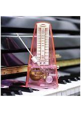 Zhangsheng T710 Transparent Red Mechanical Metronome For Piano Drum Violin Bass