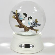 "Smith & Hawken SNOWBIRDS 6"" Snow Globe 2012 Christmas Chickadee Tree Branch"