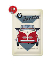 22242 Placa metálica 20x30 bmw isetta economical car nostalgic art coolvintage