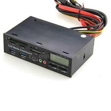 5.25 USB 3.0 PC Media Dashboard Multi-function Front Panel Card Reader I/O T2D6