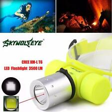 3500Lm CREE T6 LED Flashlight Lamp Waterproof Underwater Diving Head Light Torch