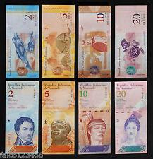 VENEZUELA - 4 BANCONOTE FDS 2 5 10 20 BOLIVARES BANCO CENTRAL BANKNOTES UNC LIRE