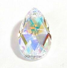 Teardrop Swarovski Crystal 6106 Pendant Clear Ab 16mm